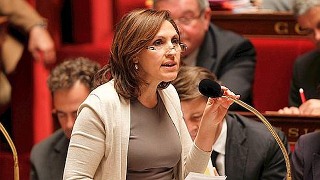 French Health Junior Minister Nora Berra speaks during the questions to the government session at the National Assembly in Paris